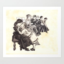 broody queue Art Print