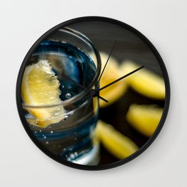 Fruit : Citrus with sparkling water Wall Clock