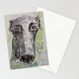 Greyhound portrait. Stationery Cards