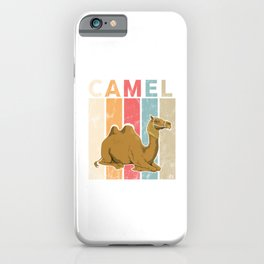 Vintage Retro Camel Backed Humps Desert Animals Wildlife Camelus Gifts iPhone Case