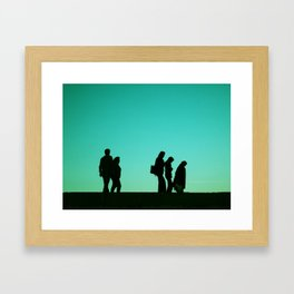 Time Line Framed Art Print