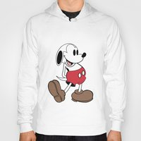 snoopy Hoodies featuring Mickey x Snoopy by Nicholas Hyde