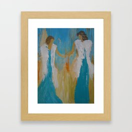 "Angel Painting, ""Mother & Daughter"" Framed Art Print"