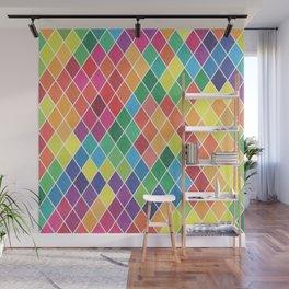 Watercolor Geometric Pattern II Wall Mural