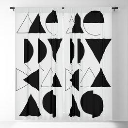 Merry Xmas - Geometric Typo Blackout Curtain