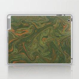Marbled Green paper Laptop & iPad Skin