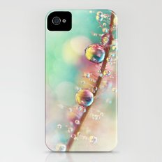 Rainbow Smoke Drops Slim Case iPhone (4, 4s)
