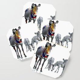Stand Out Zebra Coaster