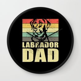 Labrador Dad Dog Labrador Retriever Wall Clock