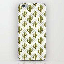 Mixed media cactus iPhone Skin