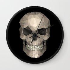 Polygons skull black Wall Clock