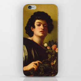 Caravaggio - Boy With A Carafe Of Roses iPhone Skin