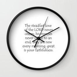 Lamentations 3 22 23 Wall Clock