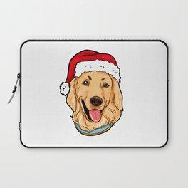 Golden Retriever Dog Christmas Hat Pre4sent Laptop Sleeve