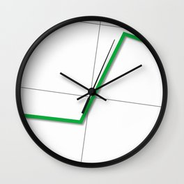 Statistic Up Wall Clock