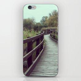 A bridge in the lagoon iPhone Skin