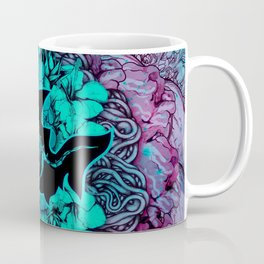 Unicorn Shark Blue Coffee Mug