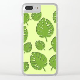 tropical leafs in spring Clear iPhone Case