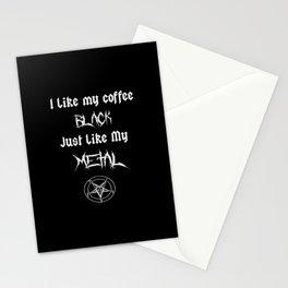 I Like My Coffee Black Just Like My Metal Stationery Cards