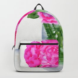 Peonies in a Vase Backpack