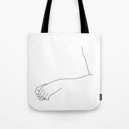 Hands line drawing illustration - Fifi Tote Bag