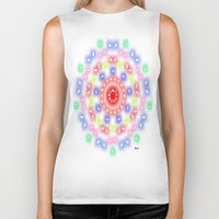 ferris wheel Biker Tanks featuring Ferris Wheel by SBHarrison