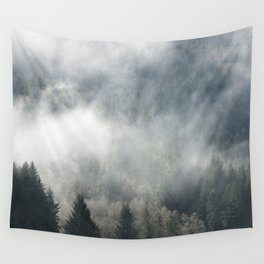 Limitless - Foggy Forest Nature Photography Wall Tapestry