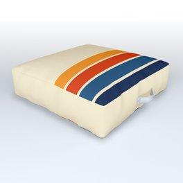 Classic Retro Stripes Outdoor Floor Cushion
