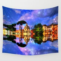 rome Wall Tapestries featuring  space Rome by haroulita