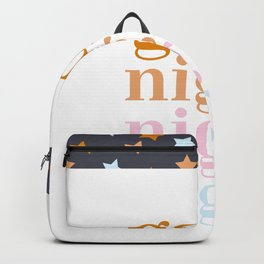 good night dream big pattern Backpack