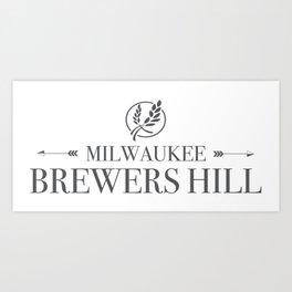 Brewers Hill Wordmark Black Art Print