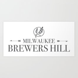 Brewers Hill Wordmark Black Art Print