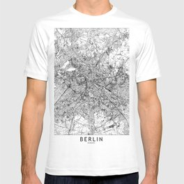 Berlin White Map T-shirt
