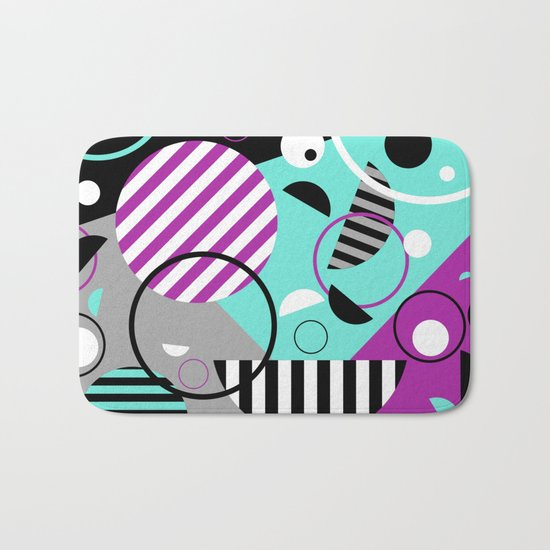 Bits And Bobs - Abstract, geometric design Bath Mat