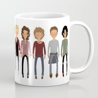 cargline Mugs featuring Long Hair Simplistic  by cargline