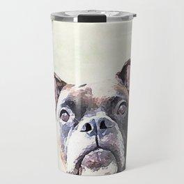 Brindle Boxer Dog Travel Mug