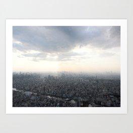 Unlimited city Art Print