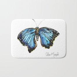Blue Morph Butterfly Bath Mat