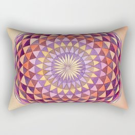 Watercolor Sacred Geometry Sunsrise Torus Rectangular Pillow
