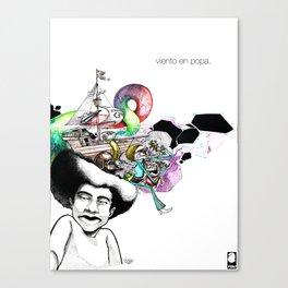 Viento en Popa Canvas Print