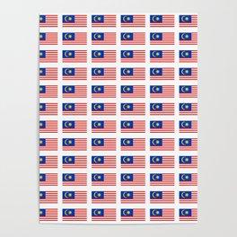 Flag of Malaysia-malay,malaysian,Kuala Lumpur,Malacca,malasia. Poster