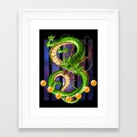 dragon ball Framed Art Prints featuring Dragon by TxzDesign