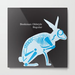 Bookman Oldstyle Regular Rabbit Metal Print