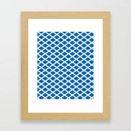 flag of scotland 2– scotland,scot,scottish,Glasgow,Edinburgh,Aberdeen,dundee,uk,cletic,celts,Gaelic Framed Art Print