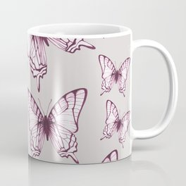 butterfly pattern in purple Coffee Mug