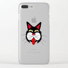JUST A CAT Clear iPhone Case