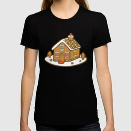 Gingerbread House Pattern - Christmas Day T-shirt