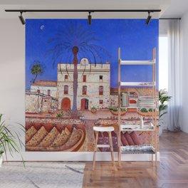 Joan Miro House with Palm Tree Wall Mural