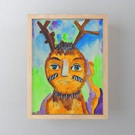 Bolt Tribal Peep Framed Mini Art Print