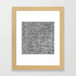 Vintage Brick Wall Framed Art Print